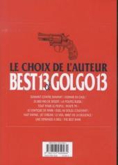 Verso de Golgo13 -2- Best 13 of Golgo13 - Le choix de l'auteur