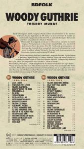 Verso de BD Folk - Woody Guthrie