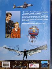 Verso de L'histoire de l'aéronautique -1- Des origines à Blériot