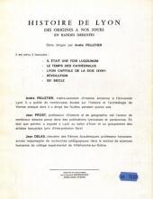 Verso de Histoire de Lyon en bande dessinée -1- Il était une fois lugdunum