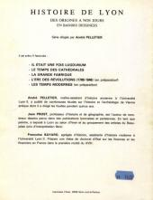 Verso de Histoire de Lyon en bande dessinée -3- La grande fabrique