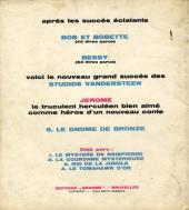 Verso de Jérôme -5- Le gnome de bronze