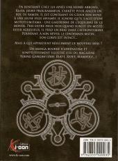 Verso de Kurokami Black God -1- Tome 1