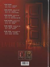 Verso de La loi des 12 tables -1- Volume premier