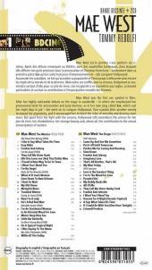 Verso de BD Ciné -9- Mae West