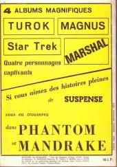 Verso de Mandrake (1re Série - Remparts) (Mondes Mystérieux - 1) -REC30- Album n° 30