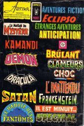 Verso de Le manoir des fantômes (1re série - Arédit - Comics Pocket)  -8- ...Un monstre qui sommeille