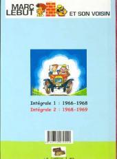 Verso de Marc Lebut et son voisin -Int02- Intégrale 2 : 1968-1969