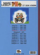 Verso de Marc Lebut et son voisin -Int04- Intégrale 4 : 1970-1971