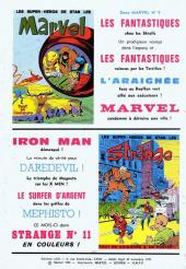 Verso de Marvel -8- Marvel 8