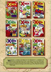 Verso de Marvel Masterworks (1987) -3- The X-Men n° 1-10