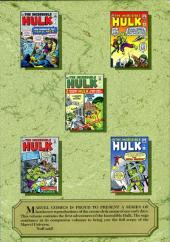 Verso de Marvel Masterworks (1987) -8- The Incredible Hulk n° 1-6