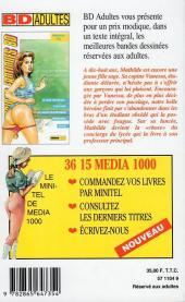 Verso de Confessions érotiques BD (Média 1000) -89- Mathilde : Je suis devenue l'esclave de mon professeur principal