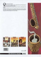 Verso de Mémoires d'un aventurier -3- Opium