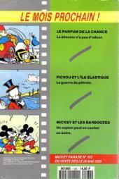 Verso de Mickey Parade -161- Donald et le secret des alchimistes