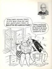 Verso de Onésime - Ses plus amusantes aventures publiées dans le bulletin des agriculteurs ces derniers 40 ans