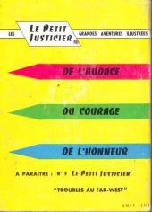 Verso de Les albums de Poche -REC2- La mort du Cyclope (Le petit justicier)