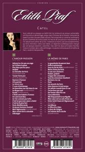 Verso de BD Chanson -1- Edith Piaf