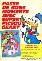 Verso de Picsou Magazine -194- Picsou Magazine N°194