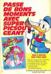 Verso de Picsou Magazine -195- Picsou Magazine N°195