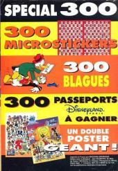 Verso de Picsou Magazine -300- Picsou Magazine N°300
