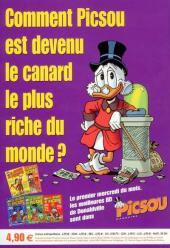 Verso de Picsou Magazine Hors-Série -6- Les trésors de Picsou