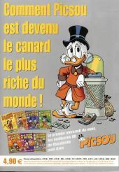 Verso de Picsou Magazine Hors-Série -8- Les trésors de Picsou