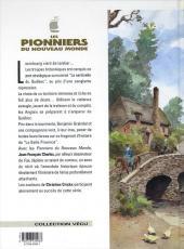 Verso de Les pionniers du Nouveau Monde -4b- La croix de Saint Louis