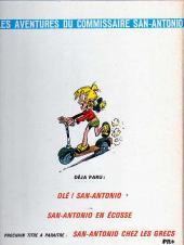 Verso de San-Antonio (Les Aventures du Commissaire) -3- San antonio fait un tour