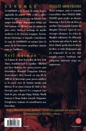 Verso de Sandman -10- Veillée mortuaire