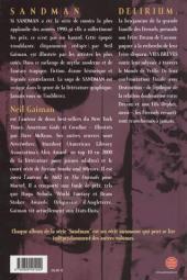 Verso de Sandman -7- Vies brèves