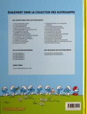 Verso de Les schtroumpfs -27- Schtroumpf les bains
