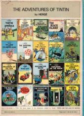 Verso de Tintin (The Adventures of) -4b- Cigars of the Pharaoh