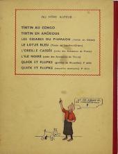Verso de Tintin (Historique) -8A07- Le sceptre d'Ottokar