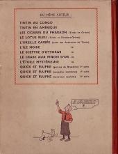 Verso de Tintin (Historique) -10A18- L'étoile mystérieuse