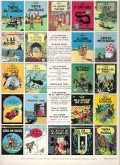 Verso de Tintin (Historique) -11C3- Le Secret de la Licorne