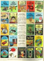 Verso de Tintin (Historique) -13C3- Les 7 boules de cristal
