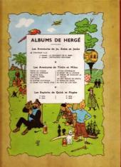 Verso de Tintin (Historique) -14B05- Le temple du Soleil