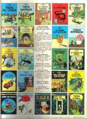 Verso de Tintin (Historique) -15C3bis- Tintin au pays de l'or Noir