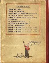Verso de Tintin (Historique) -7A18- L'Île noire