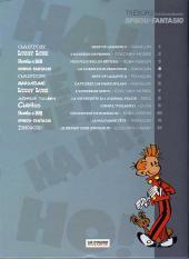 Verso de Les trésors de la bande dessinée -4- Spirou et Fantasio - La corne de rhinocéros