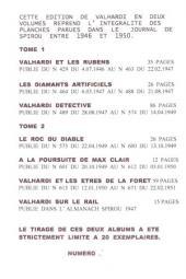 Verso de Valhardi -1Pir- Rétrospective Jean Valhardi 1