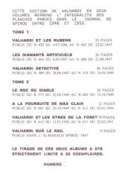 Verso de Valhardi -2Pir- Rétrospective Jean Valhardi 2