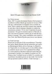 Verso de Martin Mystère -7- Les Treize Travaux - Le Code Caravage