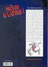 Verso de Les lapinsgovin - Drôles de Lapins !
