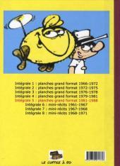 Verso de Le flagada -INT5- Intégrale 5 : 1981-1988