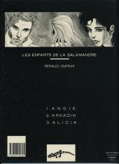 Verso de Les enfants de la Salamandre -1a1990- Angie