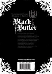 Verso de Black Butler -2- Black Doctor