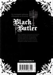 Verso de Black Butler -3- Black Ninja
