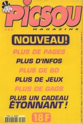 Verso de Picsou Magazine -325- Picsou Magazine N°325